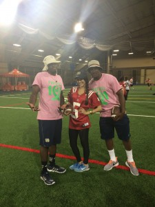 Malik Zaire and Everett Golson took the time to help me work on my spiral...watch out boys I got the hang of it now!