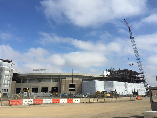 ND Stadium Construction, 2/22/2016. Photos by Lisa Kelly
