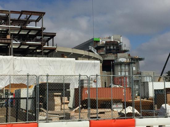 ND Stadium Construction, 2/22/2016. Photos by Lisa Kelly