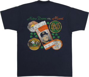 The Shirt for the 1990 ND-Miami game