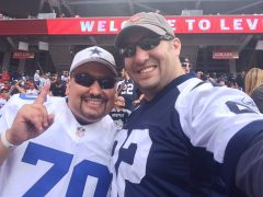 Chris (right) and his friend Bobby attend the Dallas Cowboys - San Francisco 49ers game on October 2, 2016. (Image courtesy Chris Avila)