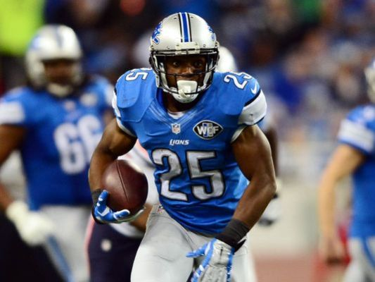 Detroit Lions running back Theo Riddick runs after making a catch against the Chicago Bears at Ford Field. (Photo: Andrew Weber USA TODAY Sports)