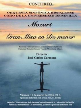 cartel concierto coro universidad Sevilla