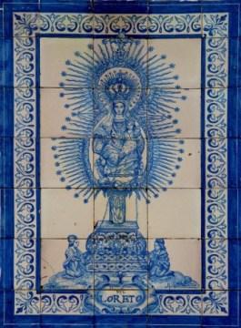 Virgen de Loreto azulejo