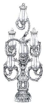 Trono Virgen. Arbotante