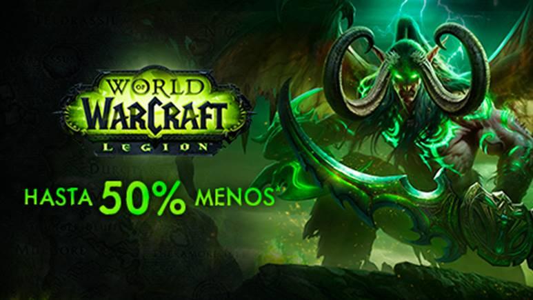 Aprovecha el 50% de Descuento al comprar World of Warcraft antes del 18 de Enero
