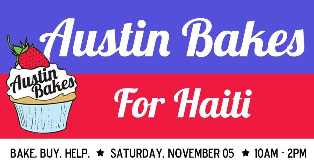 Austin Bakes for Haiti Banner