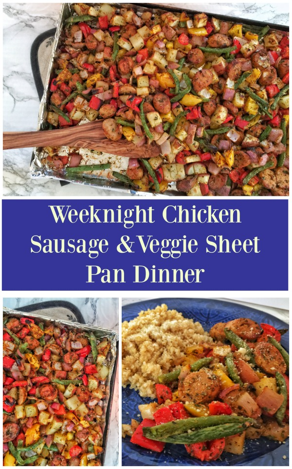 Weeknight Chicken Sausage & Veggie Sheet Pan Dinner
