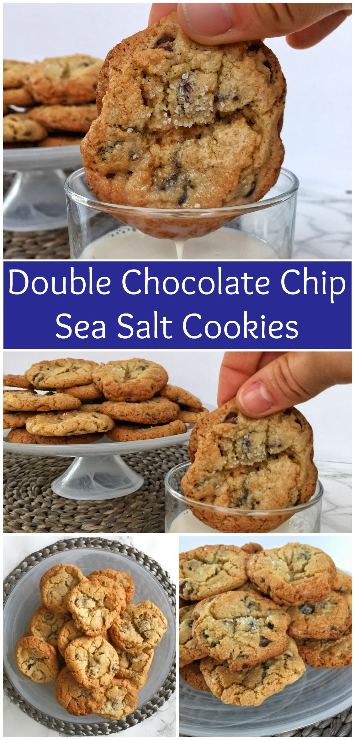 Double Chocolate Chip Sea Salt Cookies Pin