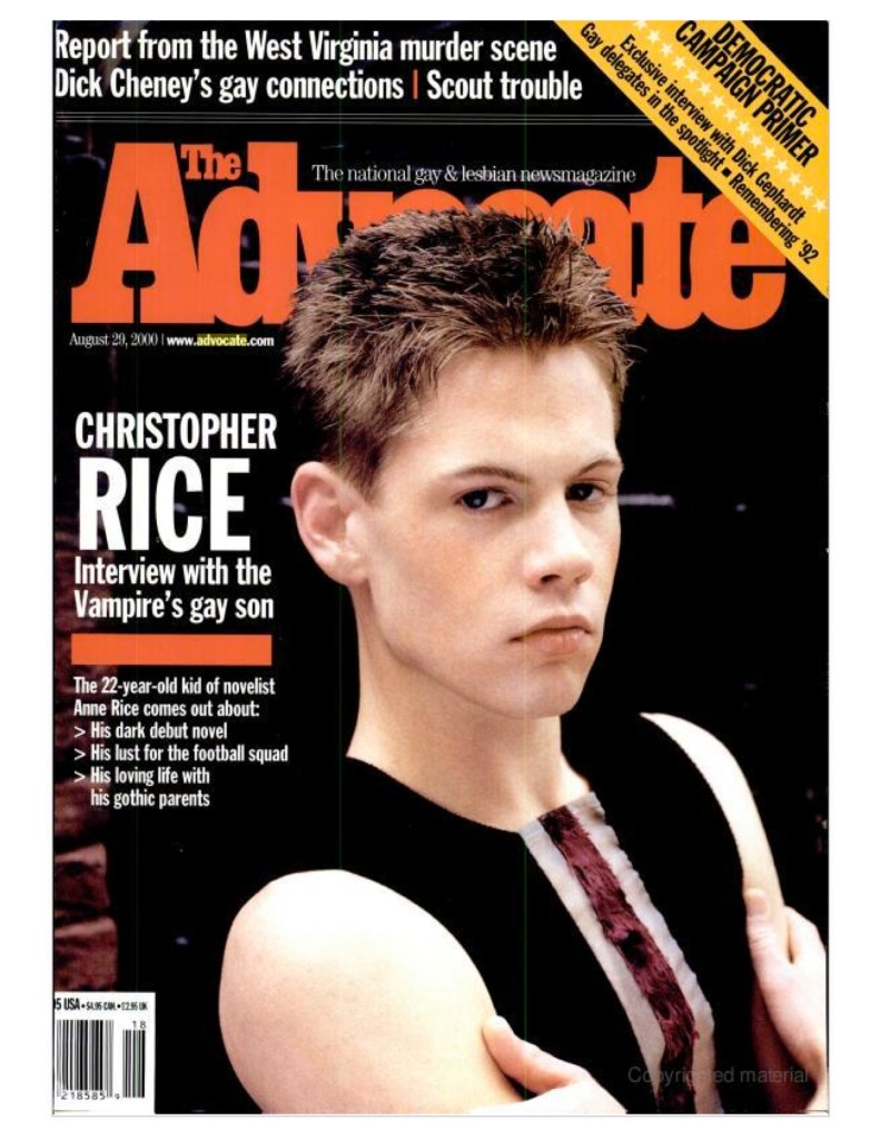 The Advocate [Cover] August 29, 2000