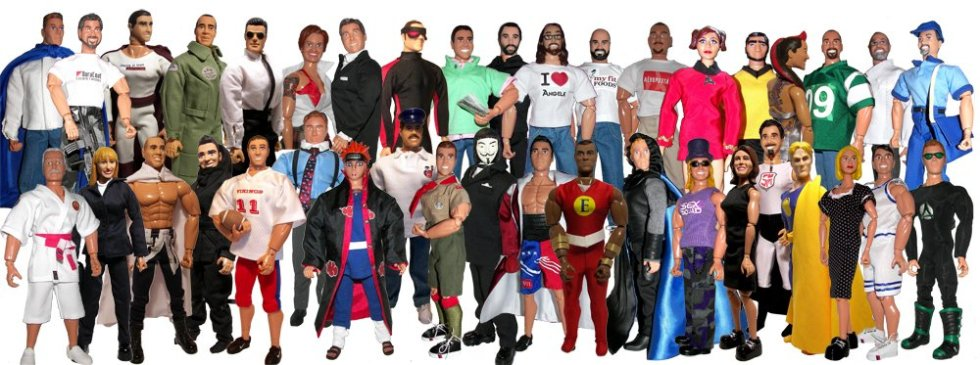 Over 40 Custom Action Figure Samples created by Herobuilders