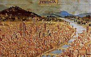 Florence d'après une gravure du XVe siècle
