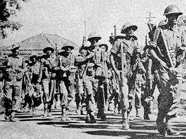 Soldados indianos marchando sobre Goa (http://www.herodote.net)