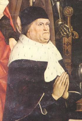 Retable de la vierge au buisson ardent (détail: René 1er d'Anjou), cathédrale d'Aix-en-Provence