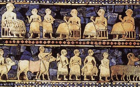 L'étendard d'Our, dit panneau de la paix (nécropole d'Our, vers 2500 avant JC)