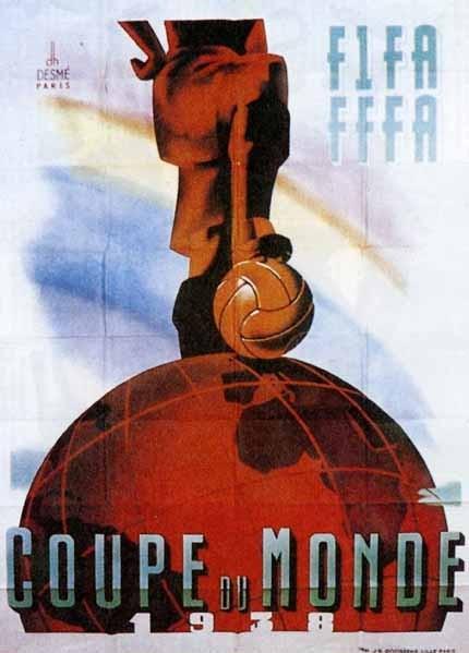 Affiche d'Henri Desmé pour le Mondial 1938, à Paris
