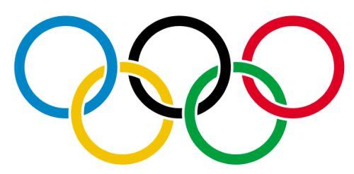 Les cinq anneaux du drapeau olympique