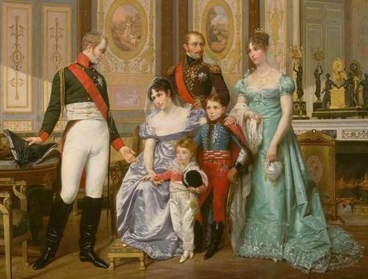 L'impératrice Joséphine reçoit le tsar Alexandre 1er à la Malmaison (Hector Viger, 1864, musée de la Malmaison)