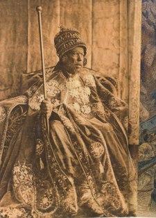 L'empereur d'Ethiopie Menelik II (17 août 1844 - 12 décembre 1913, Addis-Abeba)