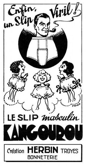 Publicité pour le slip Kangourou, 1948, collection particulière