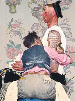 Norman Rockwell, The Tattoo Artist, 1944, New York, Brooklyn Museum