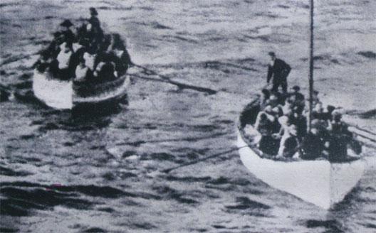 Le naufrage du Titanic, chaloupes de rescapés