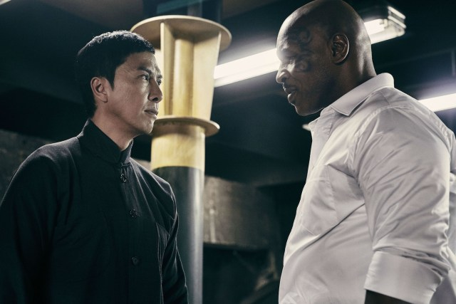 Donnie Yen and Mike Tyson square up. © 2015 Pegasus Motion Pictures (Hong Kong) Ltd. All Rights Reserved