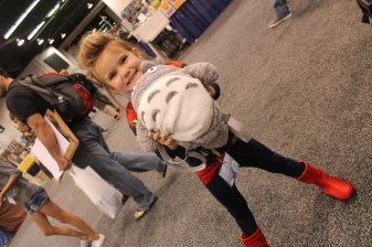 Stella found her convention prize -- Totoro!