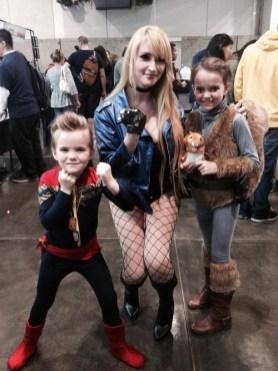"Posing with cosplayer extraordinaire Holly Brooke (aka ""Pokypandas"") as Black Canary"