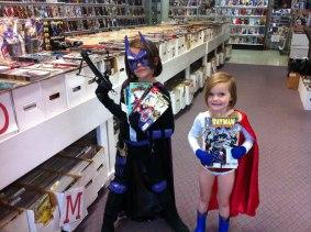 Picking up some comics.