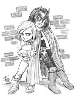 Sketch of the girls by veteran Disney illustrator Tom Bancroft