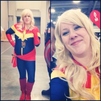 Captain Marvel, Wonder Woman, Black Widow. I lovey super ladies.