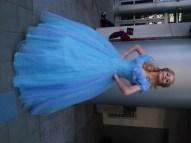 Cinderella posing like a superhero
