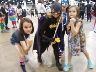 Batgirl with photobomb from Bluebird