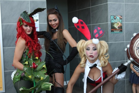 Poison Ivy, Catwoman and Harley Quinn
