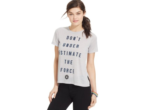 Mighty Fine Juniors' Star Wars The Force High-Low Graphic T-Shirt - Macy's