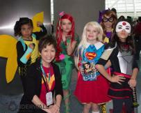 Lisa Yee with DC Super Hero Girls