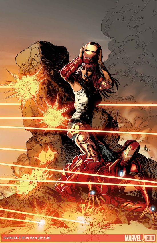 Invincible Iron Man #9 - Cover by Mike Deodato