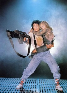 "Ellen Ripley in ""Aliens"" wearing ""Alien Stomper"" shoes"