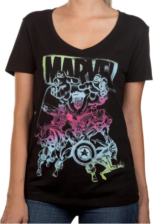 Marvel Black Pastel Tee - Walmart