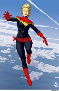 Captain Marvel - art by Jaimie McKelvie
