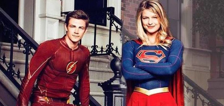 Grant Gustin and Melissa Benoist