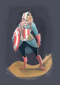 Hijabi Hooligan by Lucas Elliott