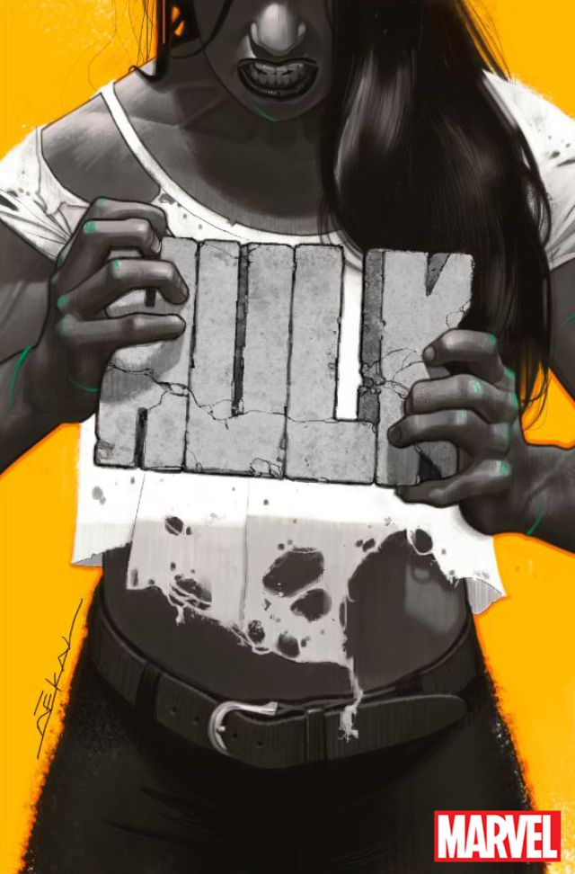 Jennifer Walters in Hulk #1 - cover by Jeff Dekal