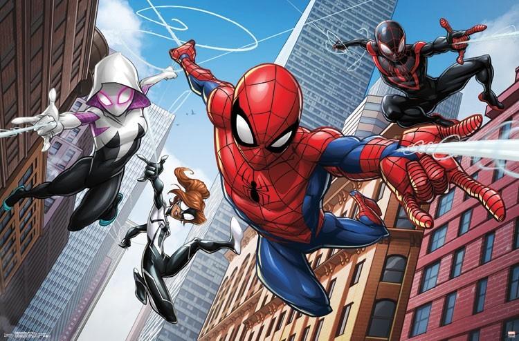 Spider-Gwen, Spider-Girl, Spider-Man, Miles Morales
