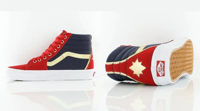 eec43e1c45 Check Out These Glorious Captain Marvel Sneakers. June 5, 2018 John  Marcotte captain marvel, shoes, vans