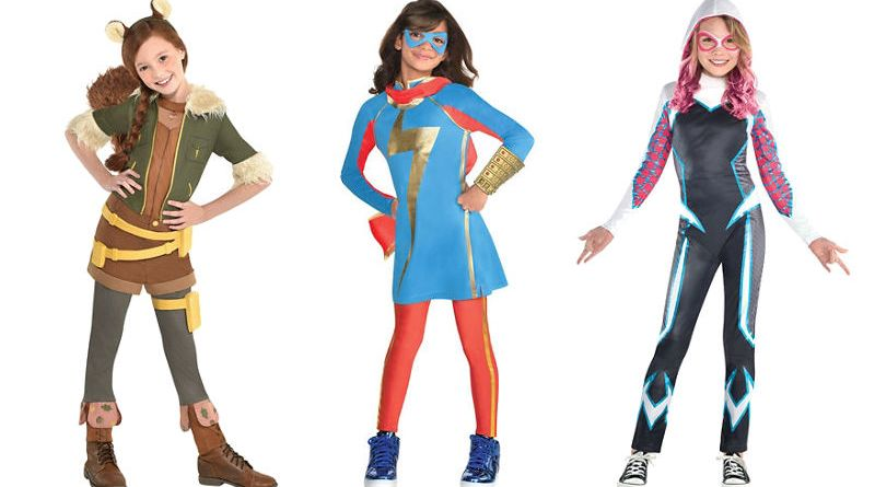 marvel rising halloween costumes fly onto store shelves this fall heroic girls