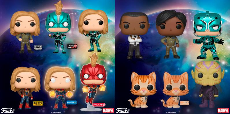 Captain Marvel Pop! Vinyl Figurines - Funko - MSRP: $9.99 ea.