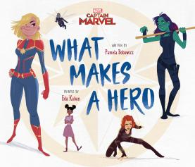 (Captain Marvel) What Makes A Hero (Picture Book) - MSRP: $12.99 - Date Available: 3/5/19 - Introduce the young reader in your life to the inimitable, expectation-destroying, glass ceiling-shattering, world-saving female Super Heroes of the Marvel Cinematic Universe, from Captain Marvel and Shuri to Gamora, Black Widow, Nebula, and more, in this beautifully-illustrated picture book aimed at the young reader set. Fans of all ages will be thrilled by this adventure that celebrates the strength, intelligence, and ingenuity of the women who are vital to MCU's best stories, distilled into a child-friendly package.