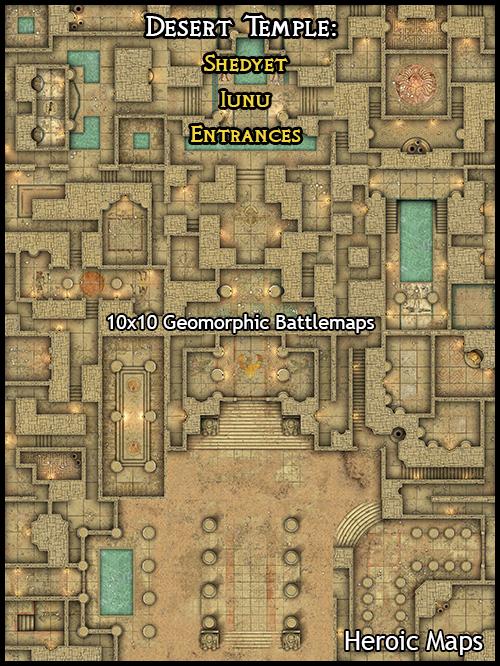 Heroic Maps Geomorphs Desert Temple Iunu Heroic Maps